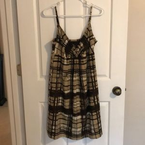 Brown/tan/white plaid dress from NY&Co Sz6